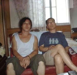 贝岭和刘晓波在北京(2000年7月)